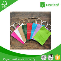 hot sales wholesales kraft colored paper funny gift bag with handle