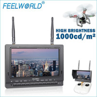 "FEELWORLD 7"" 16:9 wide screen RC bobby out flying heli drone phantom2 monitor"