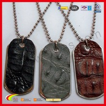 Ostrich leather dog tag best selling products