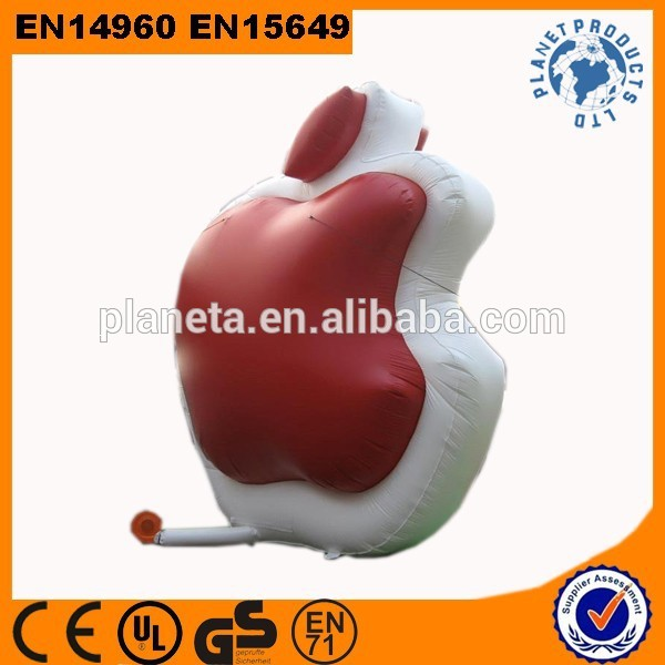 Promotion Display Giant Inflatable Apple For Advertising