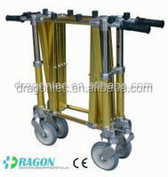 DW-TR004 light weighted aluminium funeral coffin trolley