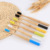 100% biodegradable round handle oem bamboo travel toothbrush