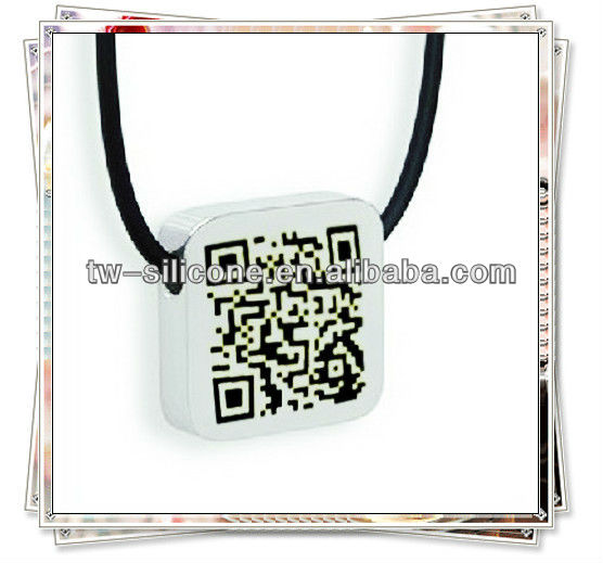 2014 Newest Products qr code necklace pendant