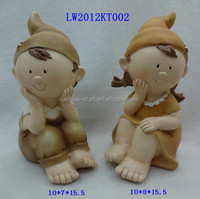 Lovely baby souvenirs small resinic figurines