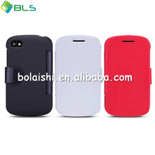 Three color soft leather ultra slim bumper case for blackberry q10