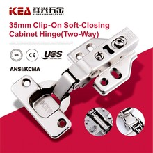 [A15] 35mm Cup Clip-on Soft-Closing two Way Door Hinge 105 Degree Cabinet Hinge