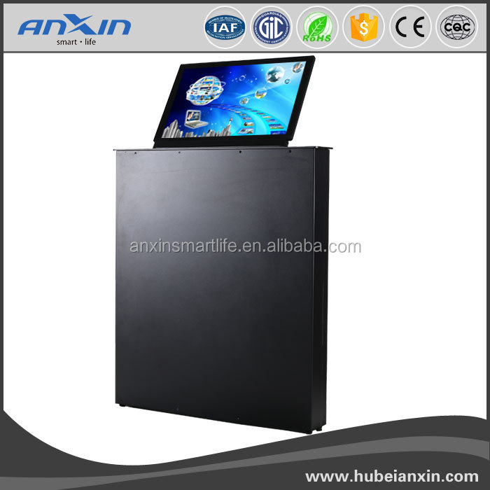 2016 new design 15.6inch super slim LCD MOTORIZED MONITOR LIFT video conference system