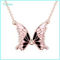 2016 new arrival fashion dubai 18k gold butterfly necklace