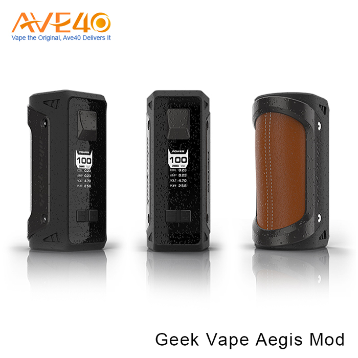 Ave40 First batch authentic GeekVape Aegis 100W TC Box MOD shockproof waterproof box mod wholesale