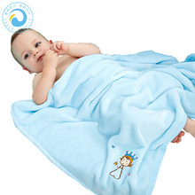 High Quality Super Soft Coral Fleece Baby Swaddle Blanket