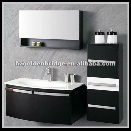 noir et blanc laver ch ne laque vanit meubles gbp012 meuble lavabo de salle de bain id du. Black Bedroom Furniture Sets. Home Design Ideas
