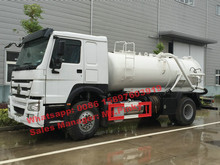 HOWO 4*2 Combi Vacuum Jetting Truck 290HP with 6000L Dirty Water and Clean Water Tank Best Price For Sales