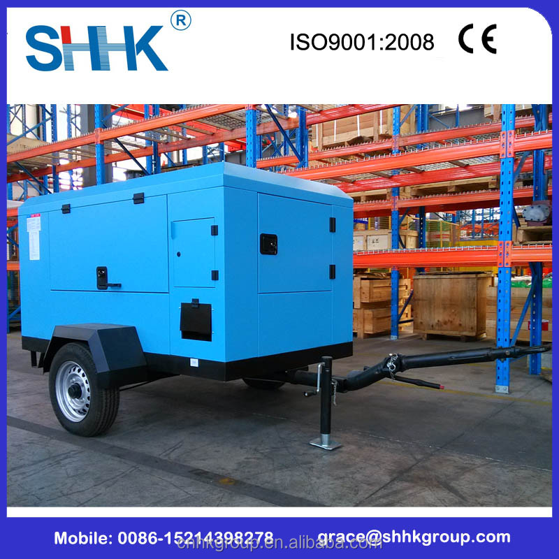 6m3 diesel driven portable screw air compressor