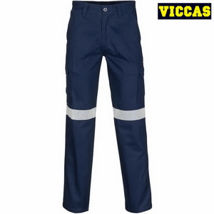 Men's Cotton Reflective Safety Cargo Work Pants