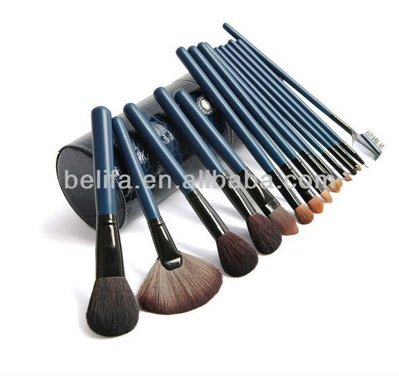 Custom 15 Piece Makeup brush Sets with holder Free Sample