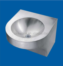 stainless steel durable commercial wall mount hand wash basin unique art design utility tub sink for public place use