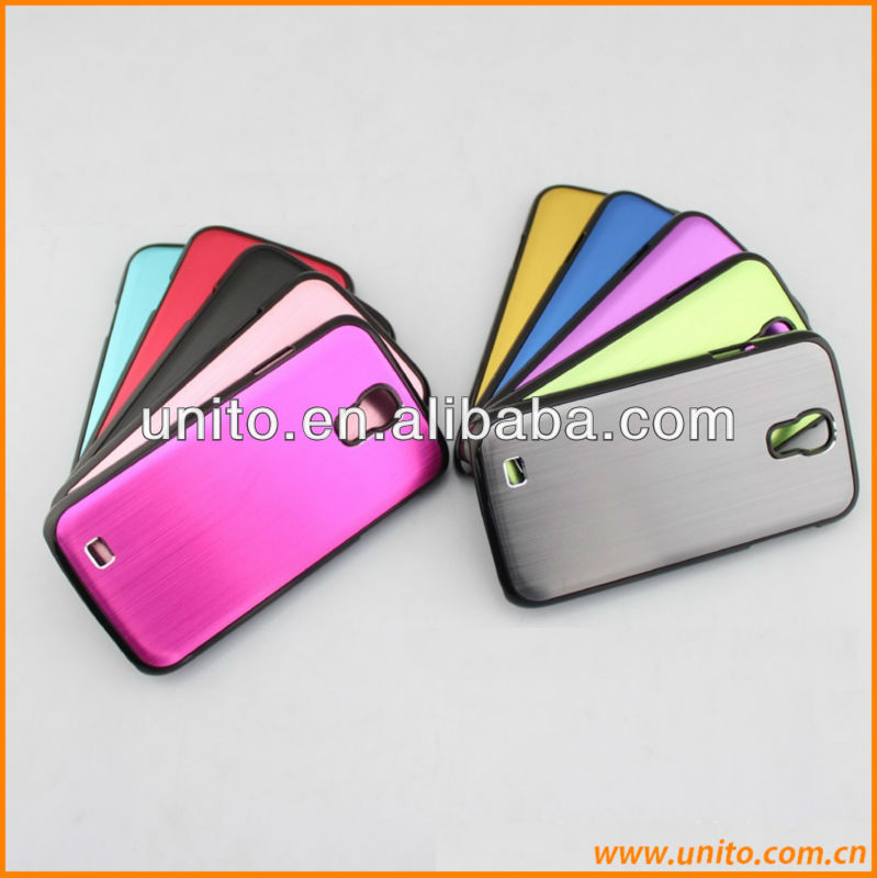 Metal Brushed Chrome Hard aluminum case for samsung galaxy s4
