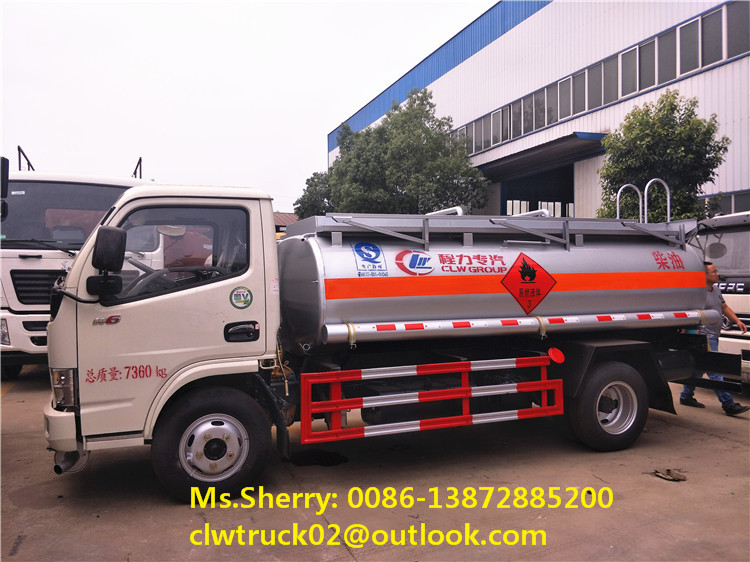 2017 China brand new small Dongfeng 4*2 fuel tanker truck, hot sale at discounted price!