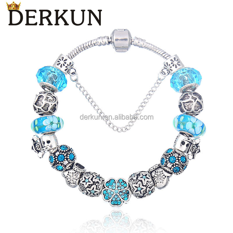 wholesale fashion jewelry Bracelet DIY valentine love gift Charms bracelet with rhinestone kisses lover charm for women