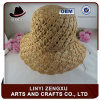High quality cowboy sombrero bucket shape straw boater hat