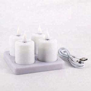 wholesaler rechargeable flameless moving flame led tealight candle