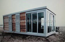 20ft container home/ flat pack prefab house/solar container home