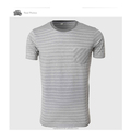 Men Block Stripe T-Shirts Gray White Slim Striped Tee Shirt Designer O Neck Tops With Short Sleeve Contrast Color Sailor look