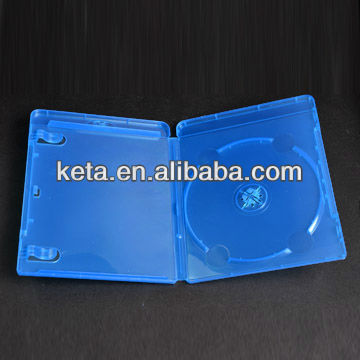 12mm Single Disc Elegant Blu Ray DVD Case With Clip