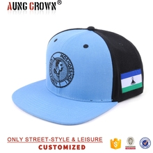 two tone plain snapback hat with embroidery patch snapback hat
