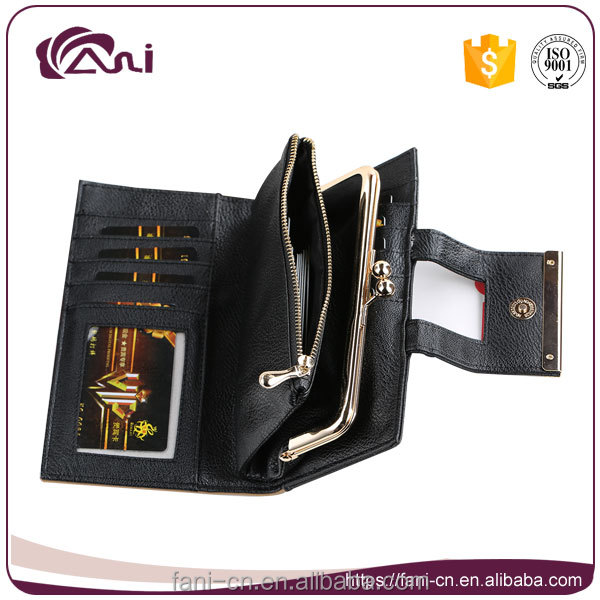 fashion design pu folding leather coin purse for women