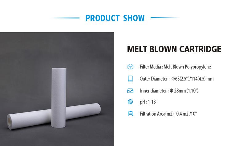 1 5 10 micron sediment PP melt blown spun wound water filter cartridge for water filter