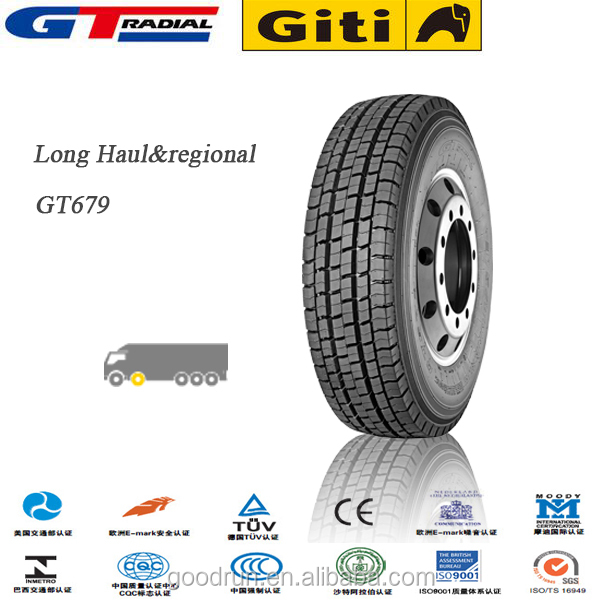 GT Radial brand 295/80r22.5 Long haul china truck tire