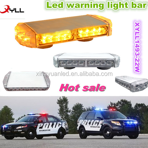 Led Emergency warning light/ Led flashing Mini Light Bar/ Amber Mini light bar with strong magnetic
