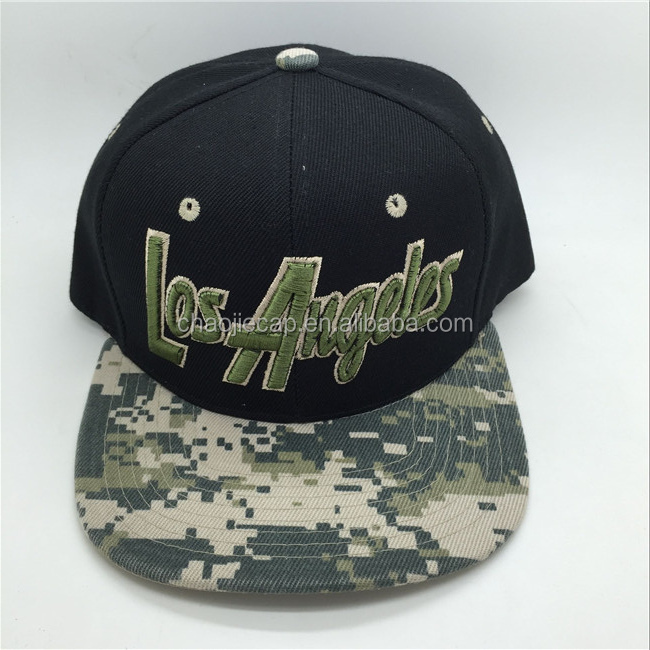 Military style snapback caps hats made in china