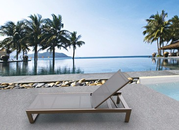 Hot sell outdoor rattan furniture beach round sunbed