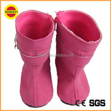Red colour small making doll shoes boot shoes 16 inch doll shoes