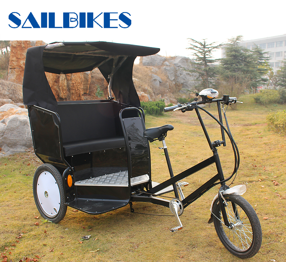 Top Selling Taxi Bike 3 Wheel Electric Bicycle Rickshaw
