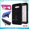 Dual layer pc silicone hybrid robot kickstand case for samsung galaxy on5 g550