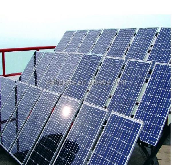 Low price high quality low iron glass coated solar panel glass, green house glass panels price