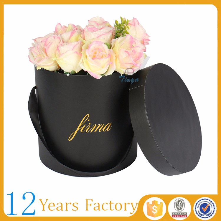 custom logo unique flower box packaging luxury