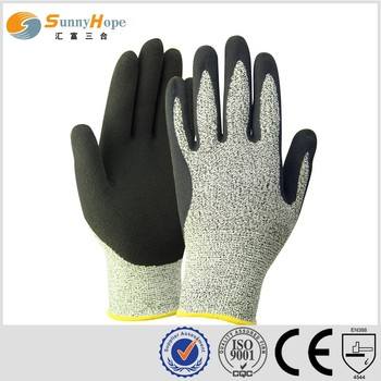 13G HPPE nitrile coated cut resistant gloves hand protection gloves