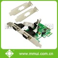 2 rs232 Serial Port PCI Express Multi I/O Card, WCH382 chipset,support low profile bracket