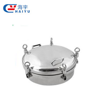 Sanitary stainless steel circular manhole cover with pressure manufacturers