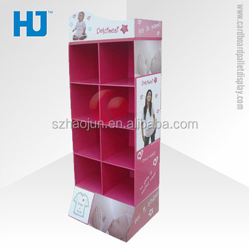 Portable Retail Clothes Shop T Shirt Floor Display Stand