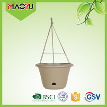 white color window decoration cheap plastic pp hanging flower pot wholesale