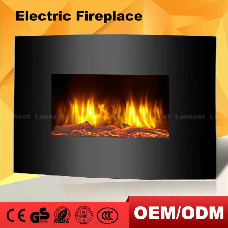 Different Models Of 3639 Wall Hanging Curved 120V Electric Fireplace With Led Light