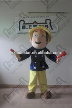 hot sale sam mascot costume fire man costumes NO.4406