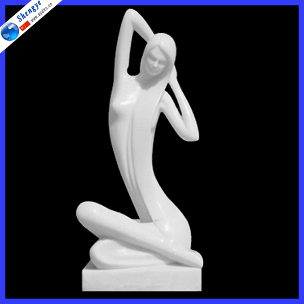 Indoor Natural Marble Naked Woman Statue