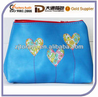 Personalised Italian Leather Heart Bag Cosmetic