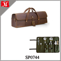 Bartender Set Bag Leather Tool Bag Brown Genuine Leather Bar Tool Bag